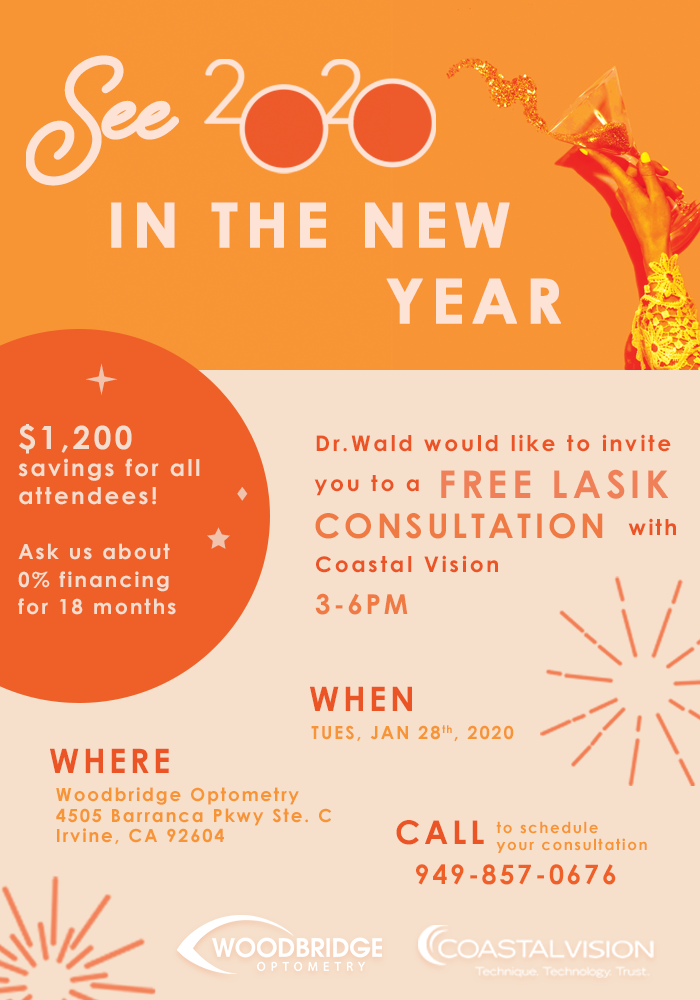 free lasik consultation and $1200 savings january 28, 2020