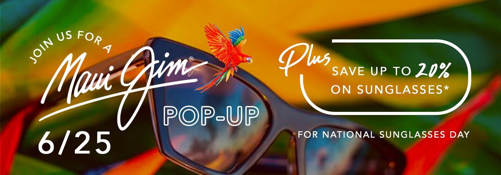 National Sunglasses Day Maui Jim pop-up