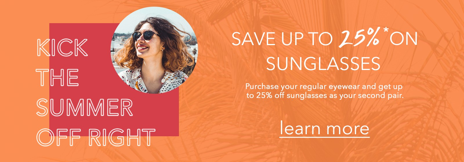 save 20-25 percent on sunglasses in Irvine